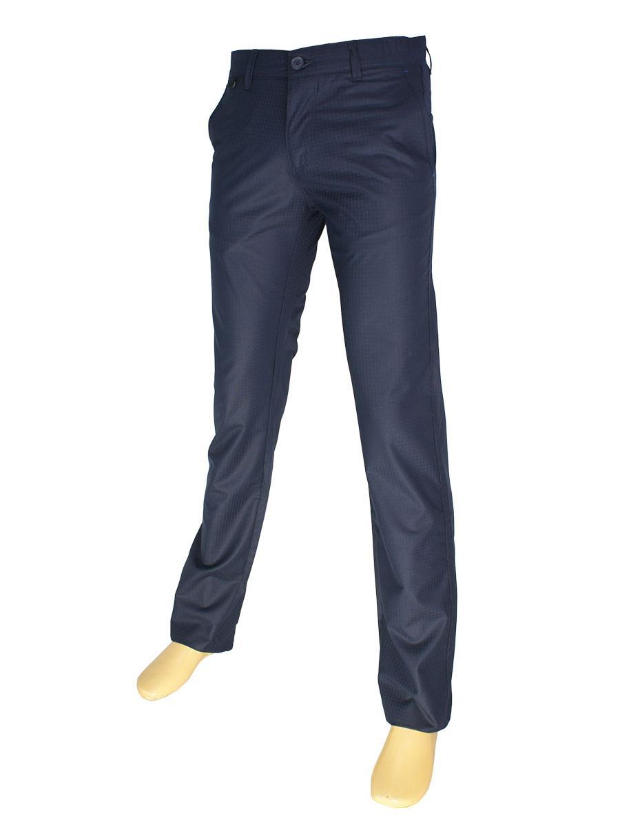 Брючние мужские джинсы X-Foot 170-3201 темно-синего цвета