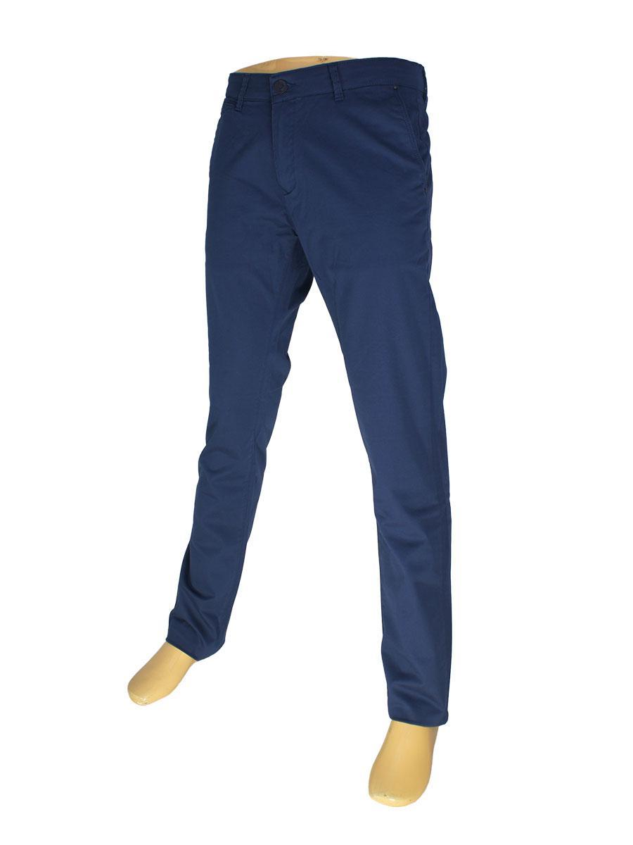 Стильные мужские джинсы X-Foot 7012-4382 синего цвета