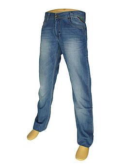 Синие мужские джинсы Cen-cor CNC-1103 с потертостями