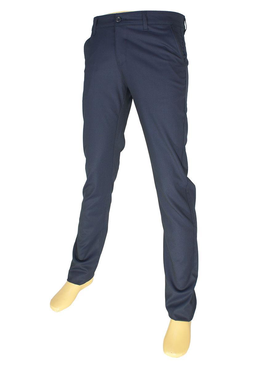 Брючные мужские джинсы NAX 170-5158 темно-синего цвета