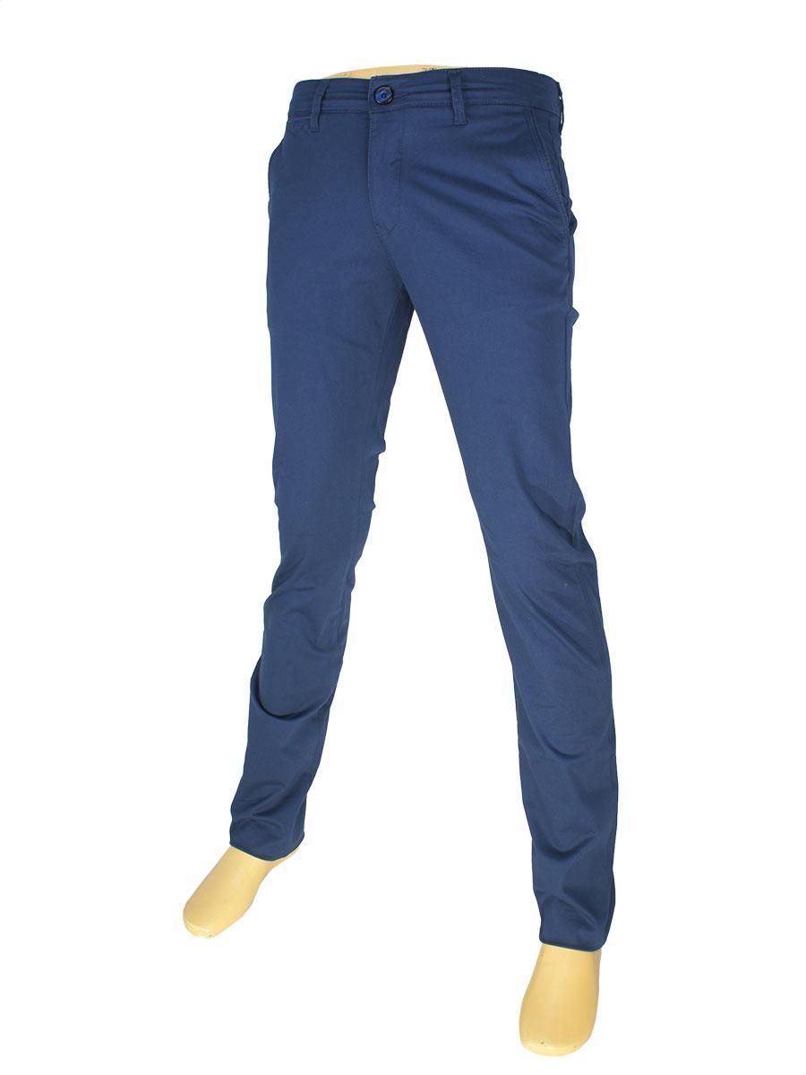 Мужские хлопковые джинсы X-Foot 170-7021 в темно-синем цвете