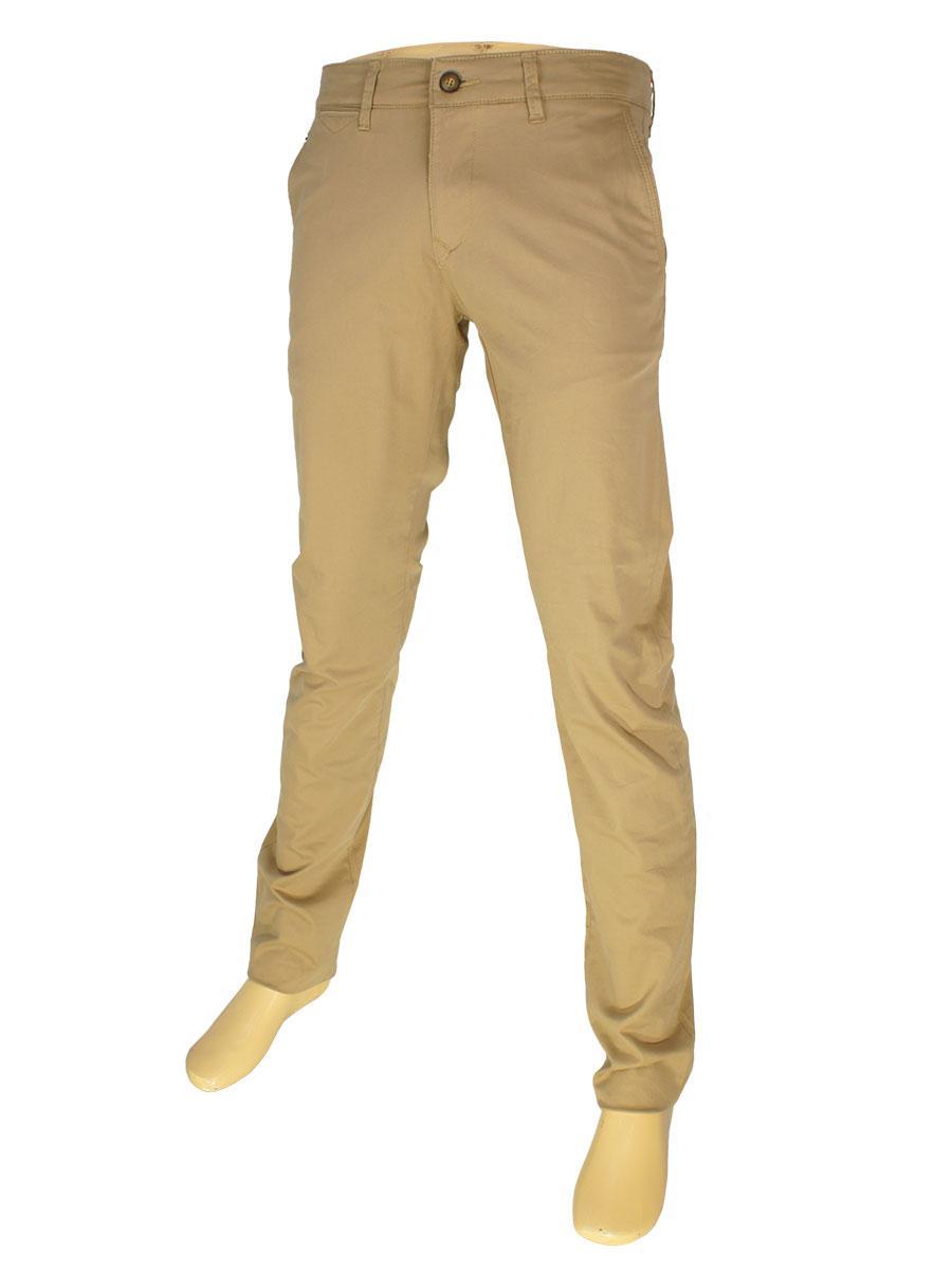 Стильные мужские джинсы X-Foot 170-7021 в светло-коричневом цвете