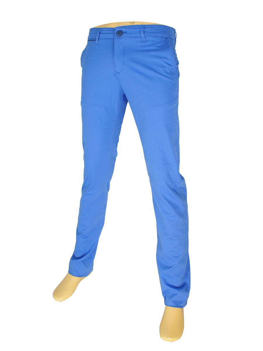 Стильные мужские джинсы X-Foot 170-7021 в голубом цвете