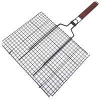 Решетка для гриля двойная GRILL ME BQ-033 (40х30см), с антипригарным покрытием, фото 2
