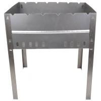 Мангал для шашлыков складной КЕМПИНГ Пикник BQ-1057, (6-местный), углеродистая сталь, фото 2