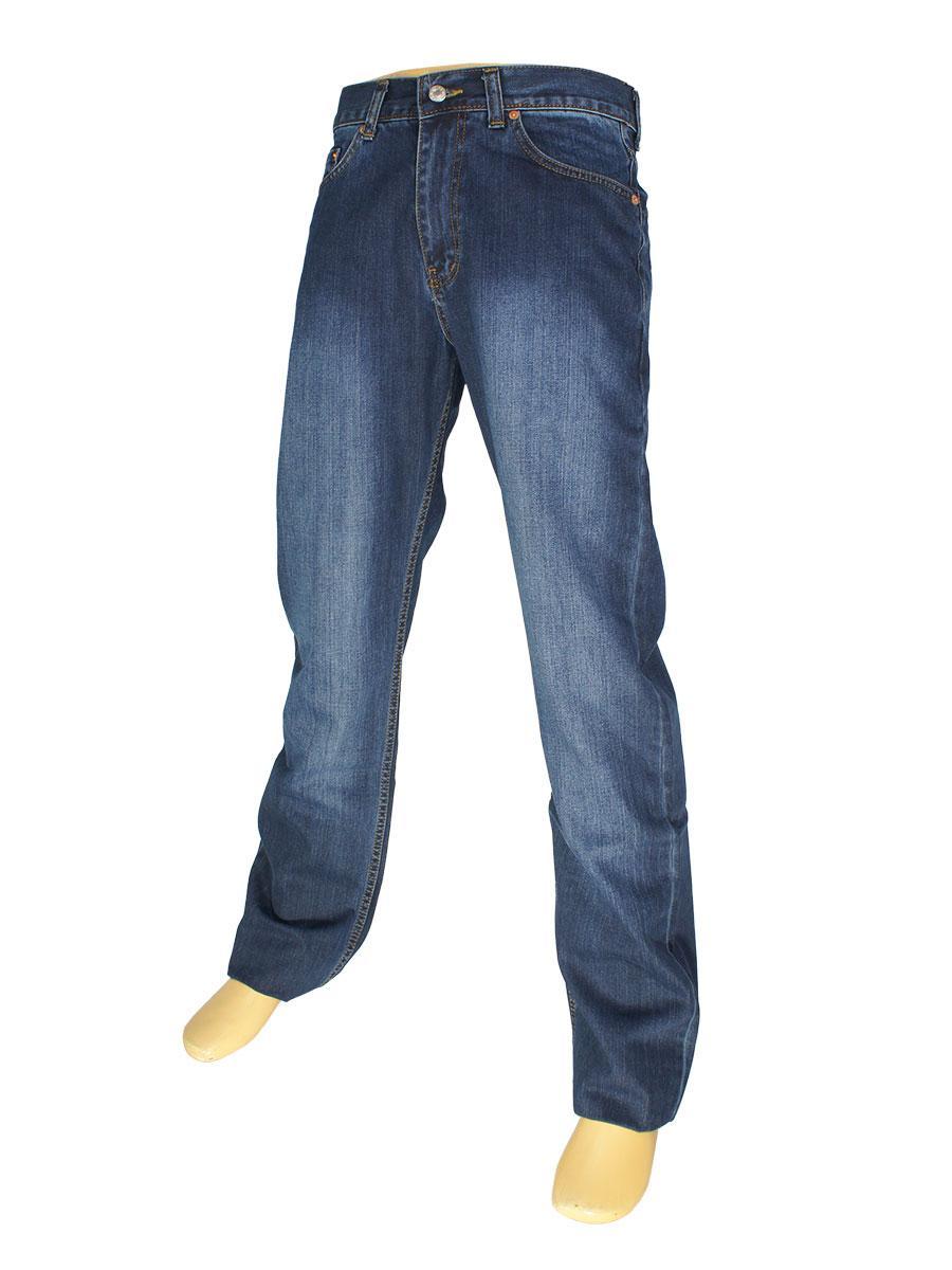 Мужские джинсы в стиле L 501-M-002 темно-синего цвета