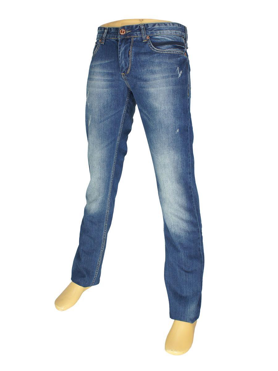 Молодежные мужские джинсы X-Foot 260-1643 в синем цвете