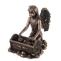"""Фигурка с бронзовым покрытием Veronese """"Ангел у кроватки""""  10 см"""