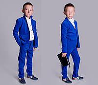 Детский стильный вельветовый костюм для мальчиков 2108 / электрик