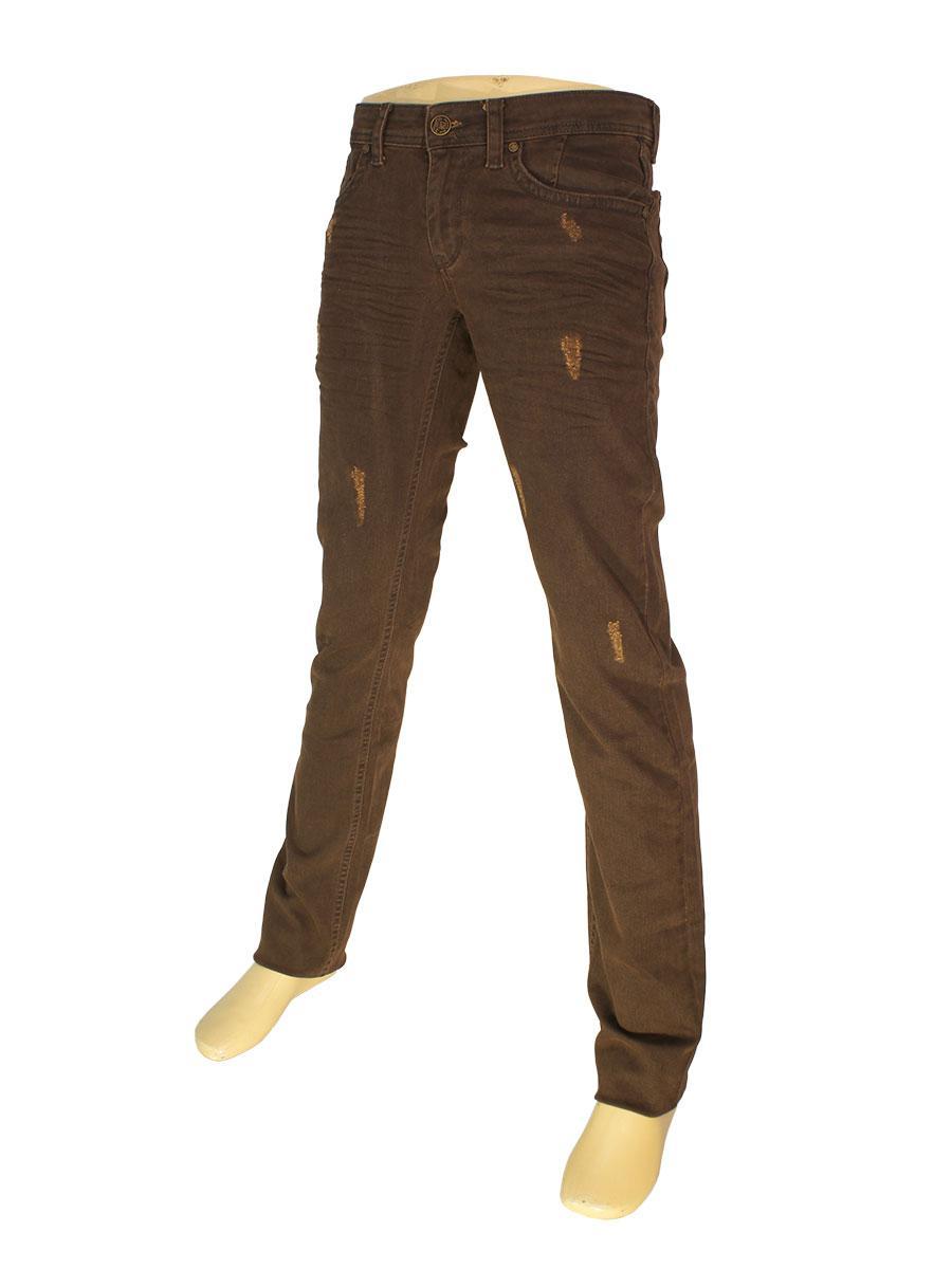 Стильные мужские джинсы Differ E-2303 SP.NO 0418 коричневого цвета