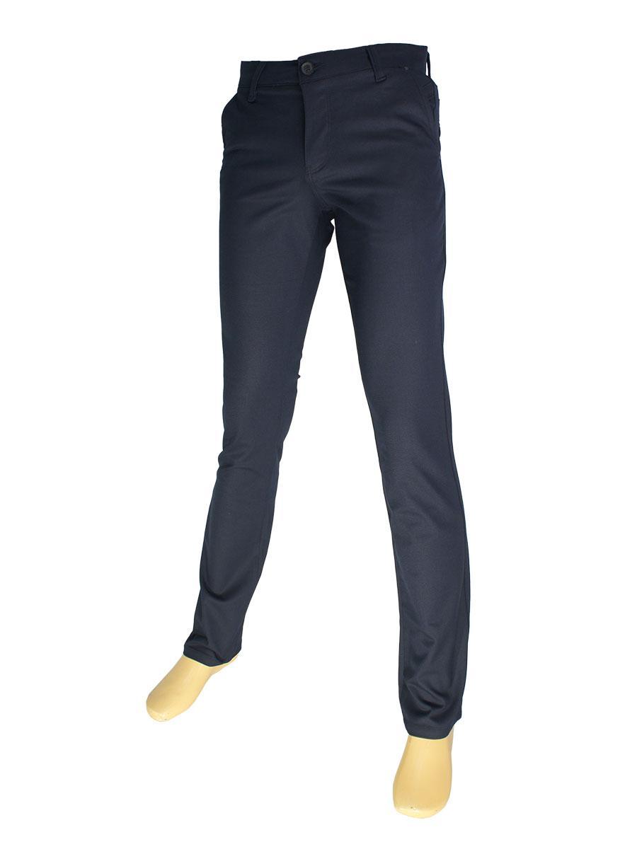 Молодежные брючные джинсы  X-Foot 180-3021 темно-синего цвета