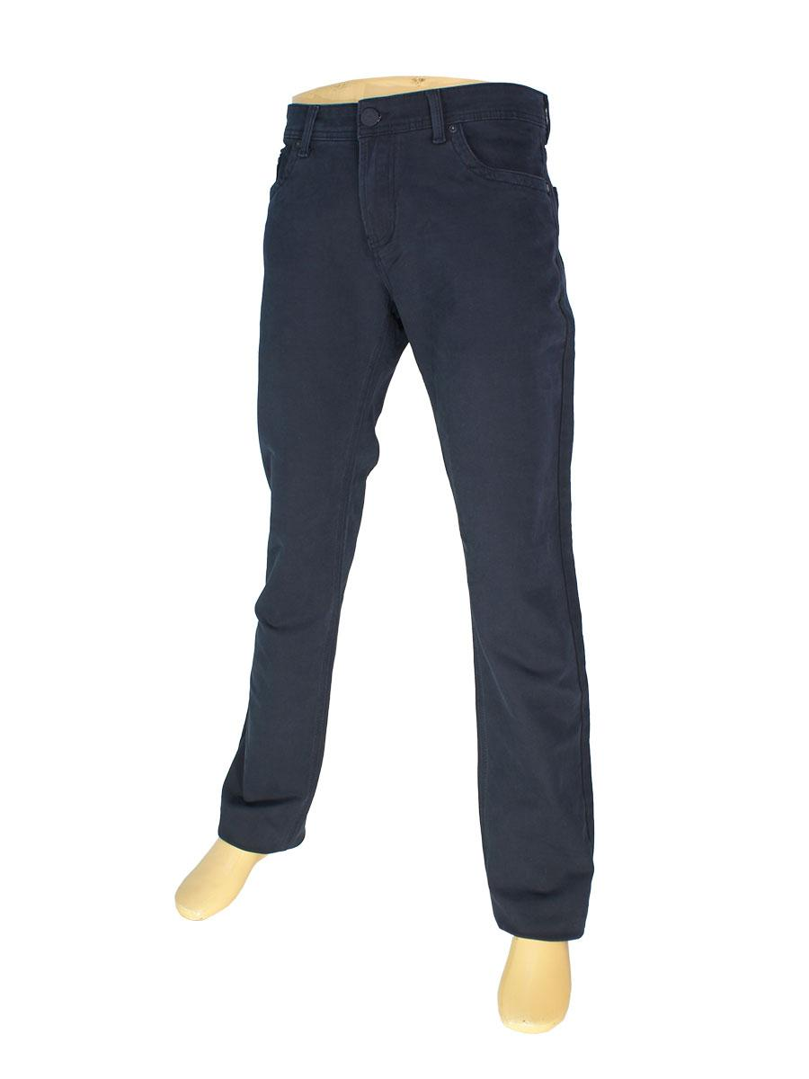 Хлопковые мужские джинсы  X-Foot 140-2065 темно-синего цвета