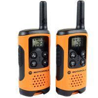 Рация Motorola TLKR T41 (0.5W, PMR446, 446 MHz, до 4 км, 8 каналов, 3xAAA), комплект 2шт., оранжевая