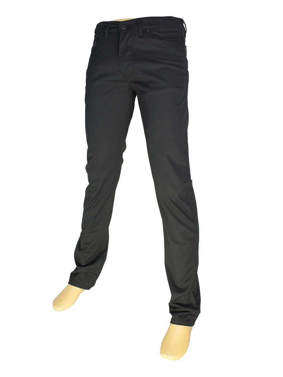 Классические мужские джинсы Cen-cor CNC-3053 черного цвета