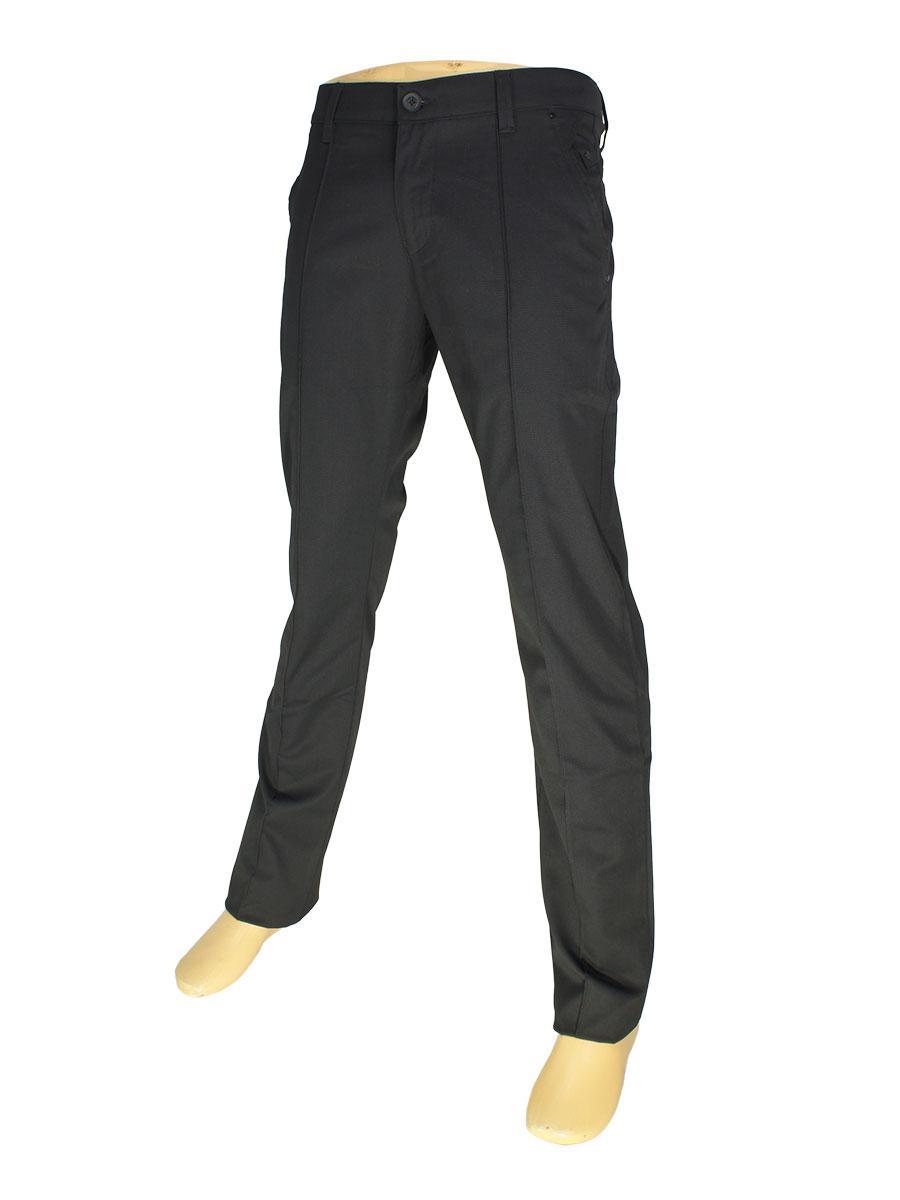 Мужские брючные джинсы  X-Foot 1760 черного цвета