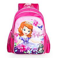 Розовые школьные рюкзаки для девочек с рисунком