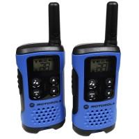 Рация Motorola TLKR T41 (0.5W, PMR446, 446 MHz, до 4 км, 8 каналов, 3xAAA), комплект 2шт., синяя