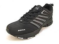Кроссовки мужские BONA  кожаные черные (Бона)(р.41,42,43,45,46)