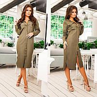 Стильное женское платье офисного стиля