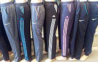 Женские спортивные брюки баталы Adidas,Nike,размеры 52-62 опт и розница S745