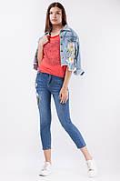 Стильные женские джинсы с аппликацией оптом и в разницу