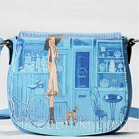 Женская сумка Giorgio Ferrilli голубая