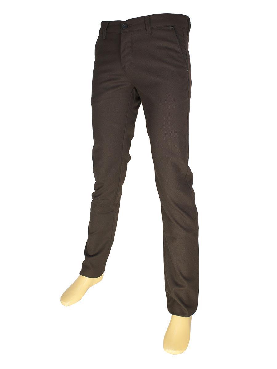 Чоловічі брючні джинси NAX 170-5078 коричневого кольору