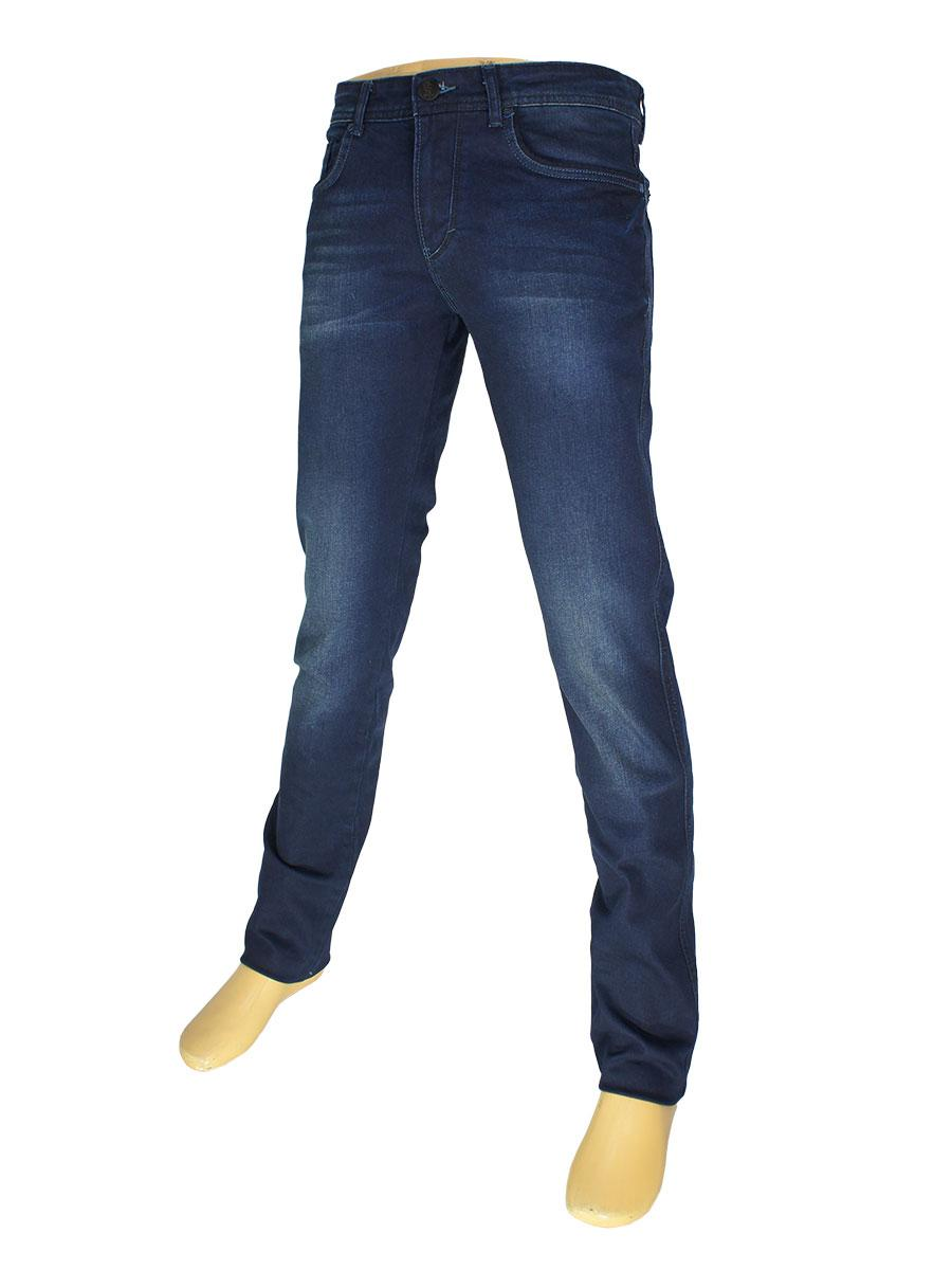 Чоловічі завужені джинси X-Foot 261-2266 темно-синього кольору