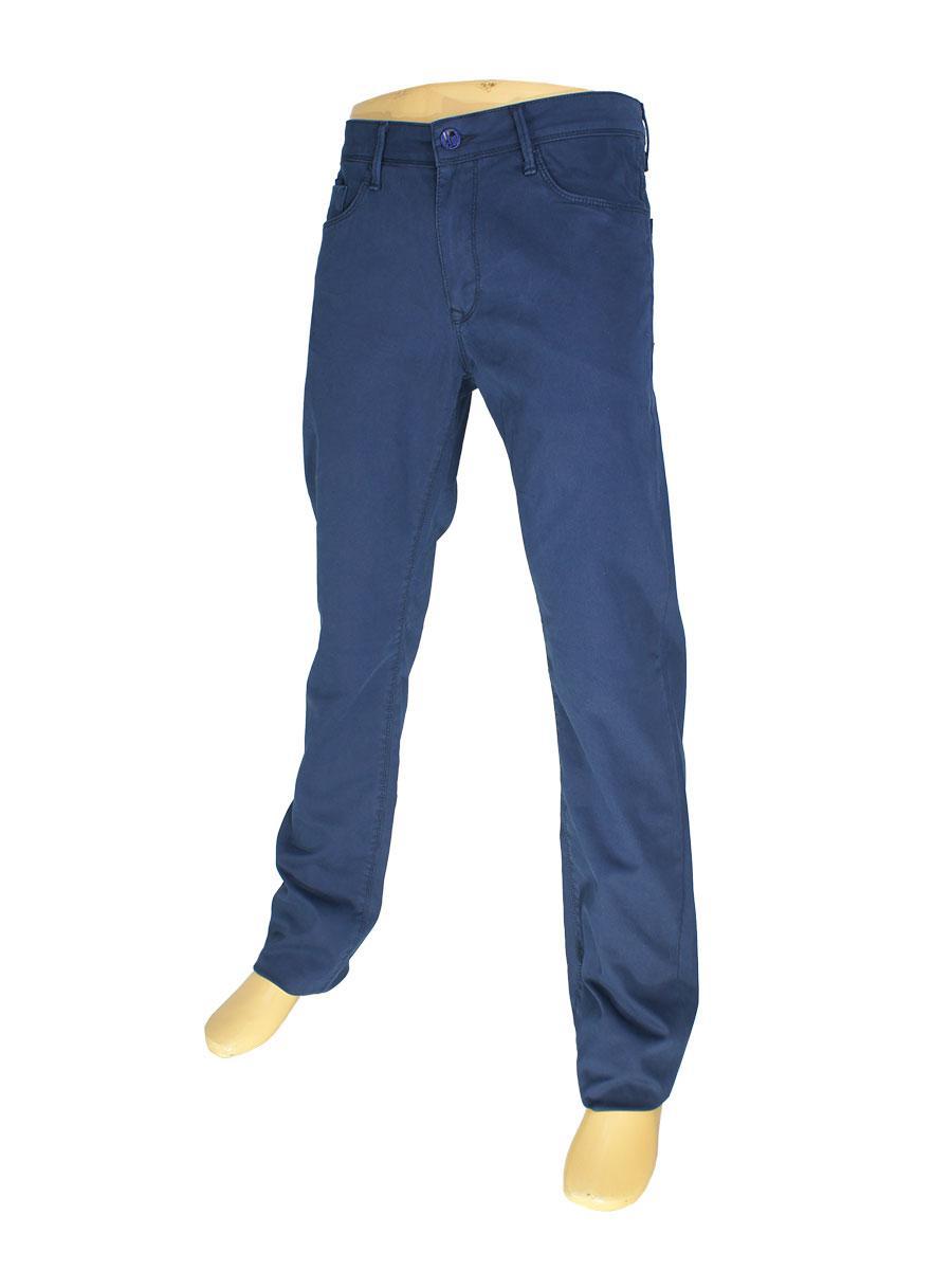 Чоловічі однотонні джинси X-Foot 140-7009 в синьому кольорі