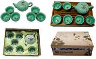 Набор для чайной церемонии, чайник, пиалы 6 шт, с рыбками 295х230х90
