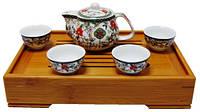 Набор для чайной церемонии, чайник 250 мл и 4 пиалы 50 мл, 170х100х180