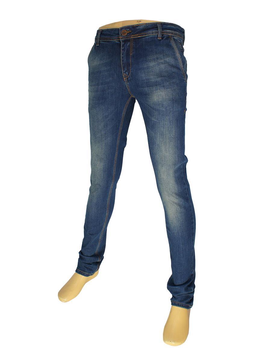 Молодіжні чоловічі джинси X-Foot 262-2207 в темно-синьому кольорі