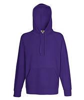 Мужская легкая толстовка с капюшоном фиолетовая 140-РЕ