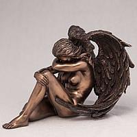 """Статуэтки покрытые бронзой """"Ангел девушка"""" 12см"""