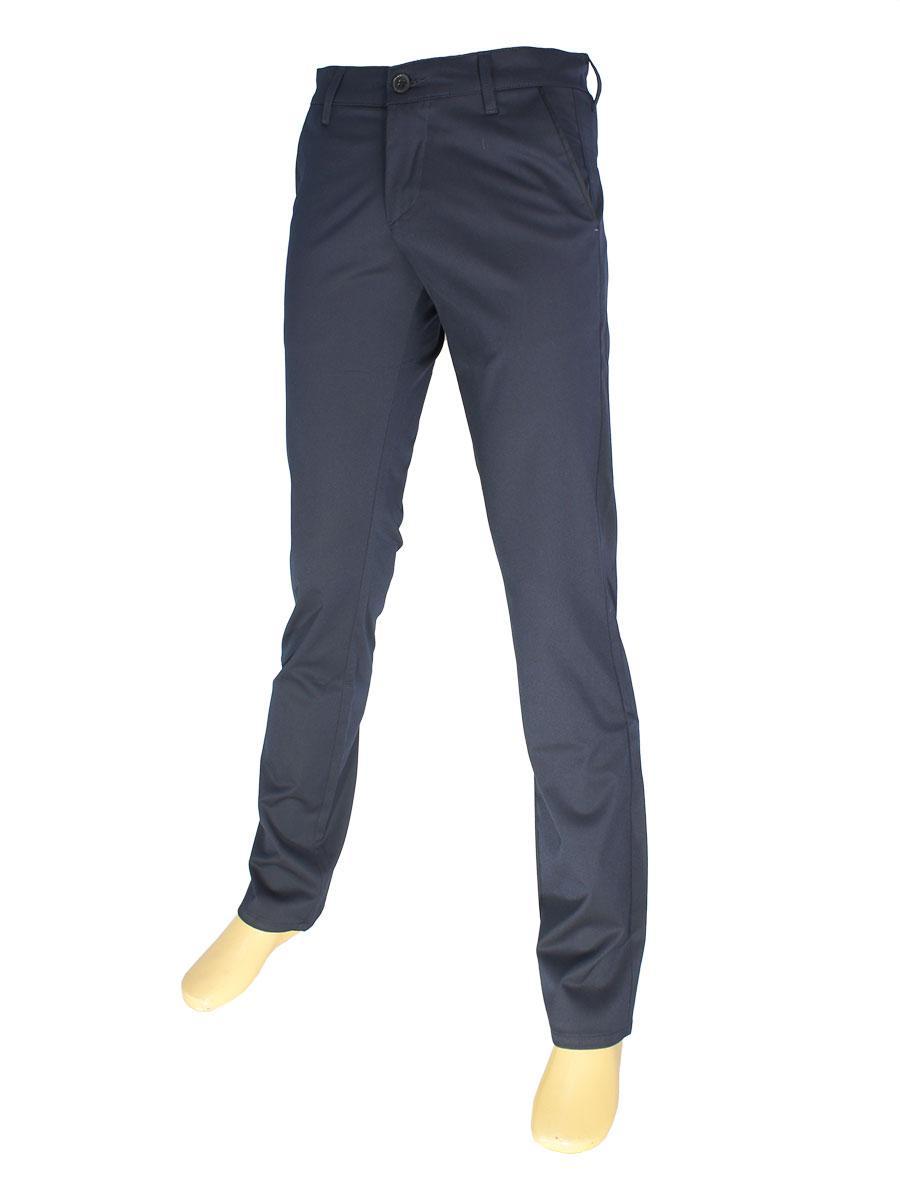 Стильні чоловічі джинси NAX 180-5039 в темно-синьому кольорі