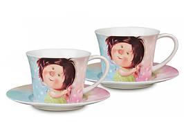 """Чайный набор на 2 персоны """"Девичьи тайны"""" 220 мл от Гапчинской 924-062"""
