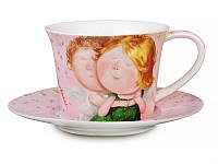 """Фарфоровая чайная пара """"Счастье в каждом мгновении"""" от Гапчинской 924-071"""