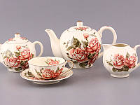 Фарфоровый чайный набор на 15 предметов Lefard Корейская роза 69-1788