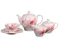 """Фарфоровый чайный сервиз на 15 предметов """"Орхидея"""" Lefard 264-088"""