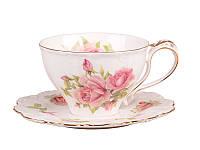 """Фарфоровая чайная пара """"Розы"""" Lefard 250 мл 127-576"""
