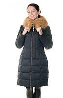 Зимний женский пуховик Daser с лисой