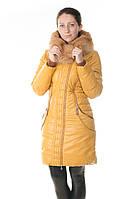 Зимний женский пуховик Daser из био-кожи.