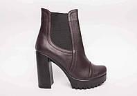 Ботинки из натуральной коричневой кожи  №314-10 (идеал 818), фото 1
