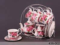 """Чайный сервиз на 15 пр-в на подставке """"Лето"""" Lefard 436-002"""