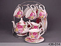 """Чайный сервиз на 15 пр-в на подставке """"Весна"""" Lefard 436-014"""