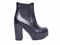 Ботинки из натуральной черной кожи  №314-12 (алегра-4), фото 1