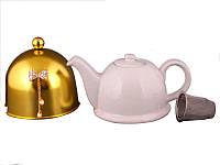 Заварочный чайник Lefard 800 мл с ситечком и колпаком 470-134