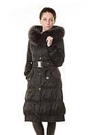 Женский зимний пуховик  с натуральным мехом Snow Beauty