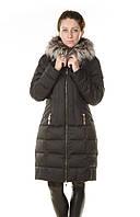 Зимний женский пуховик Daser с чернобуркой