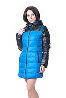 Женский зимний пуховик Grace синего цвета, фото 1